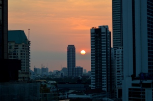 sunset over promphong