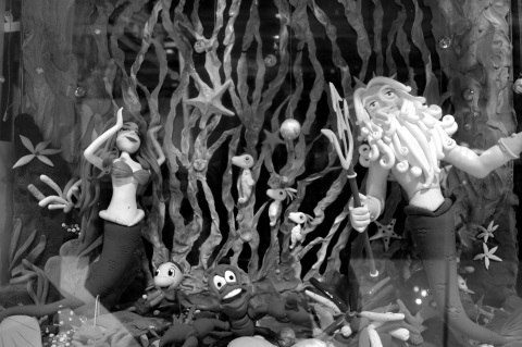 under the sea bw